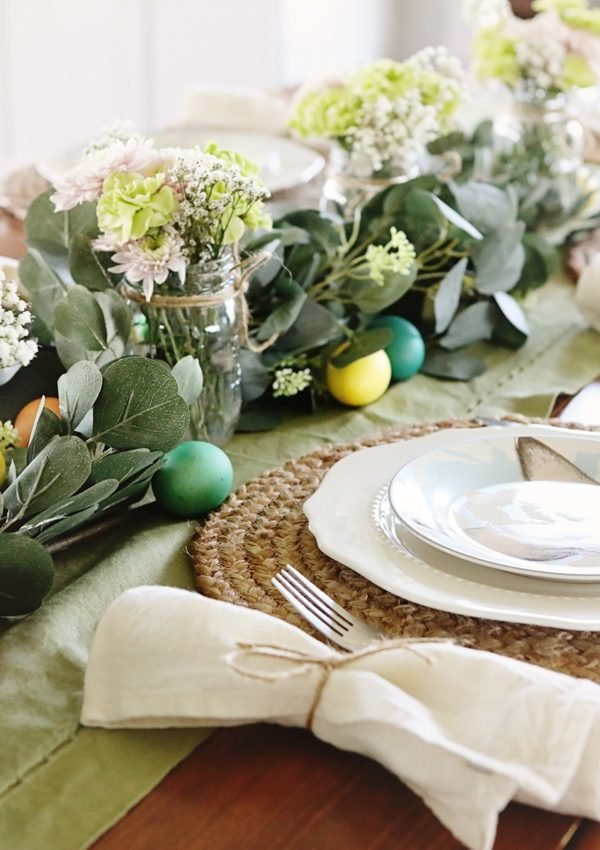 Our Easter table decor