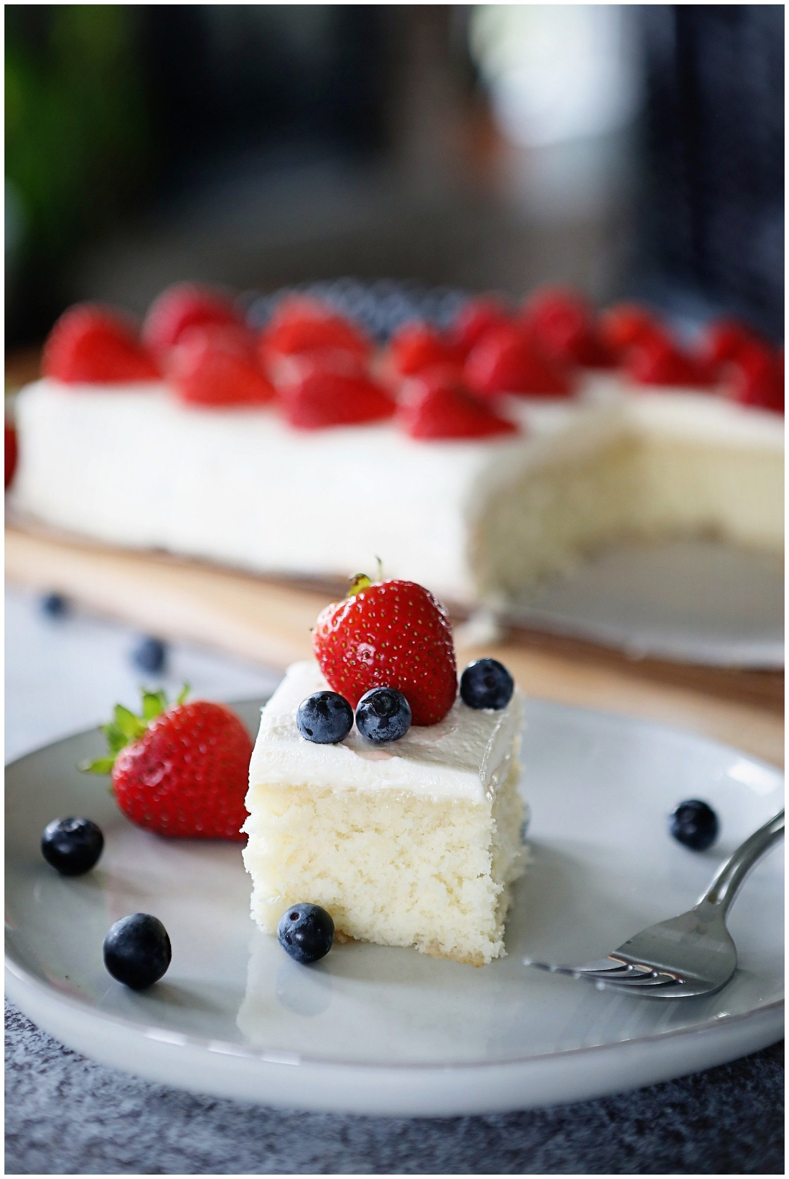 White cake recipe with smooth buttercream frosting