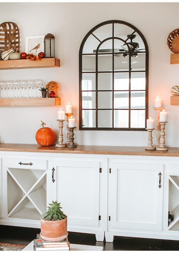 Warm & inviting fall farmhouse living room decor