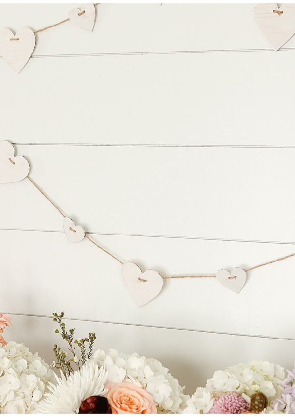 How to make a vintage heart garland