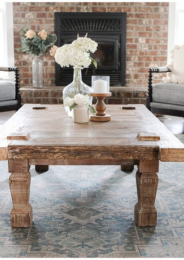 Modern farmhouse reclaimed wood coffee table