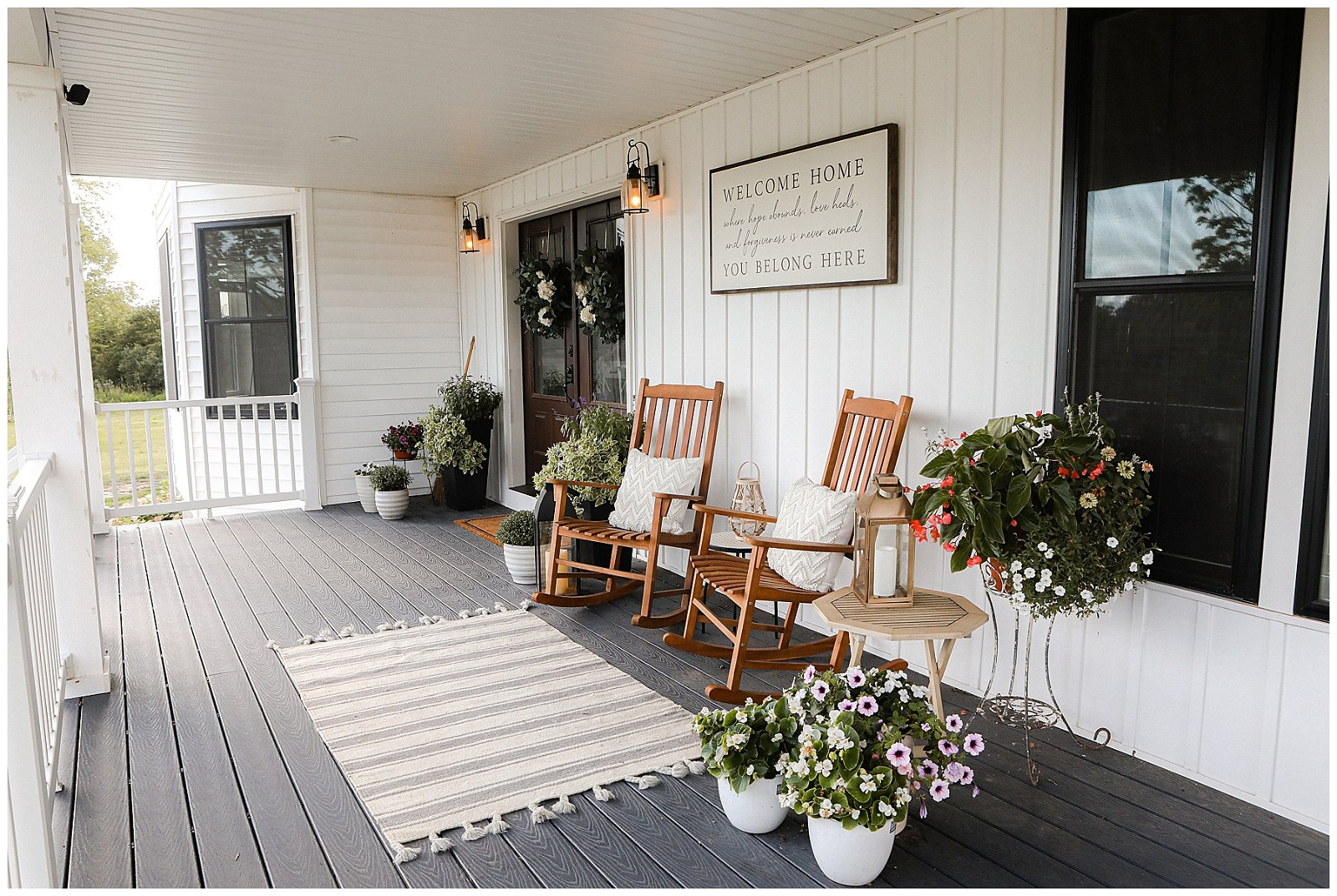 End of summer front porch decor