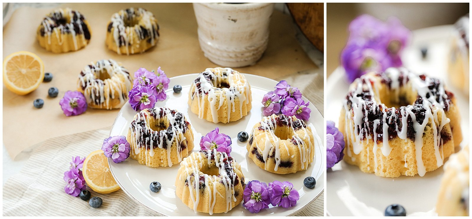 Mini Blueberry Lemon Bundt Cakes