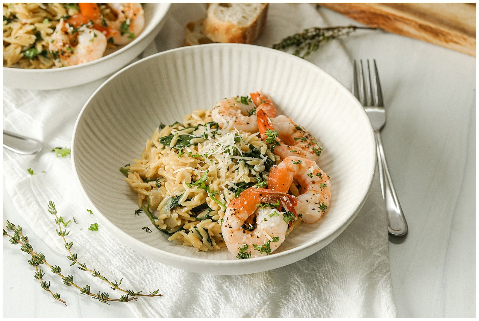 parmesan and spinach orzo pasta