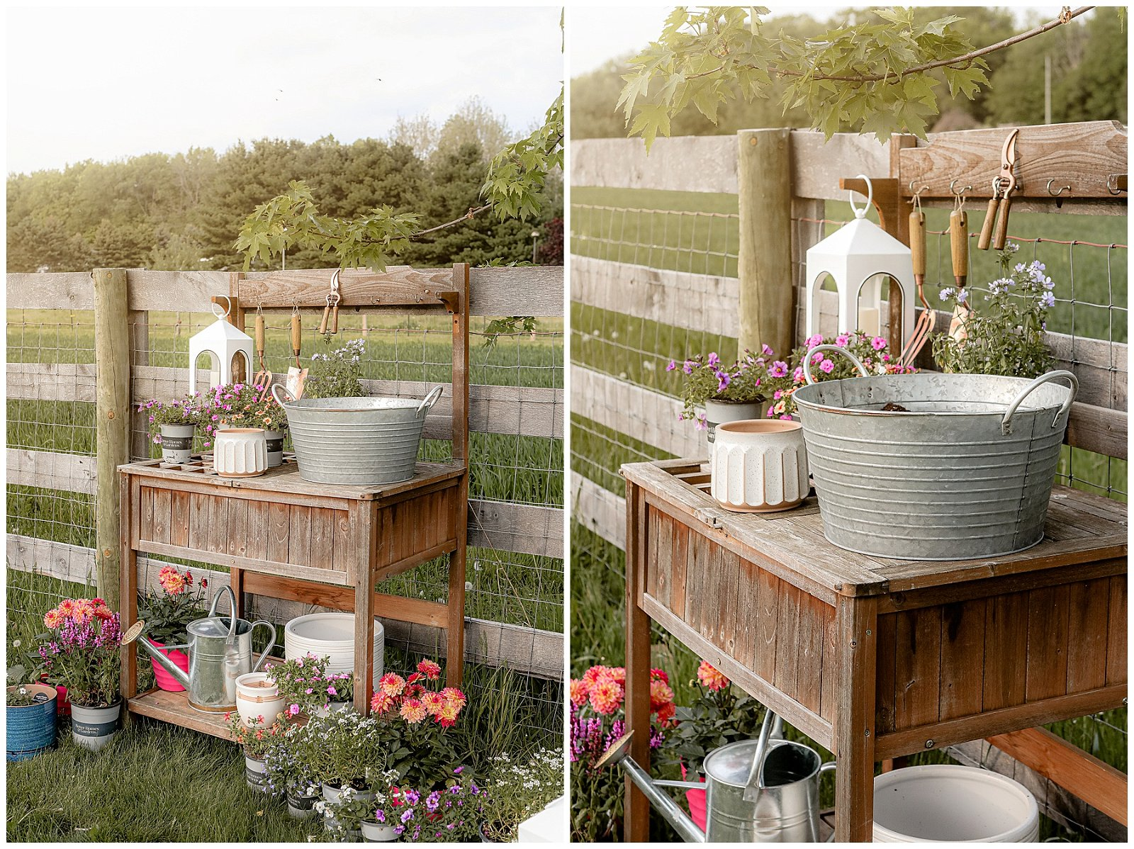 Beautiful and functional potting bench