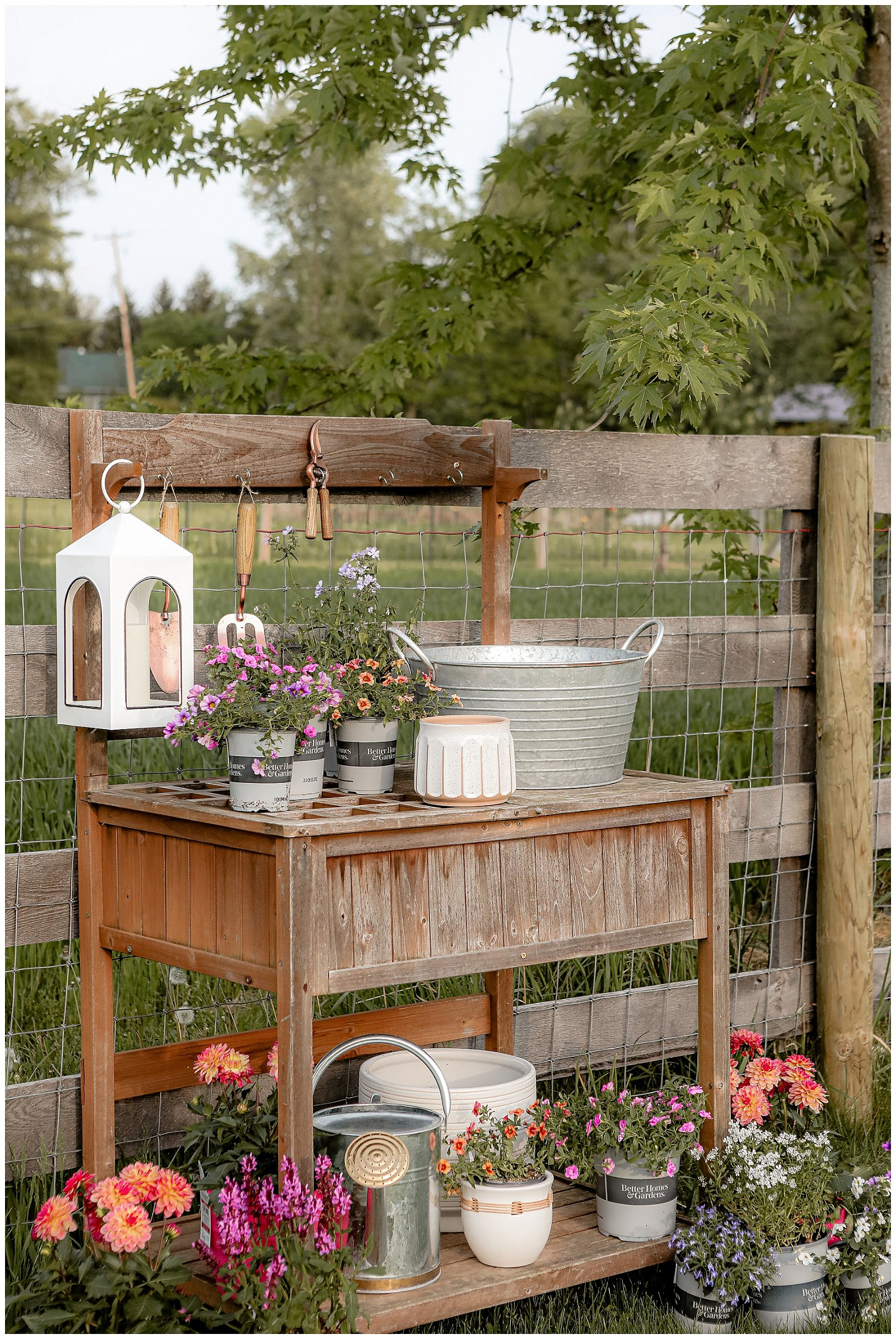 A beautiful and functional potting bench
