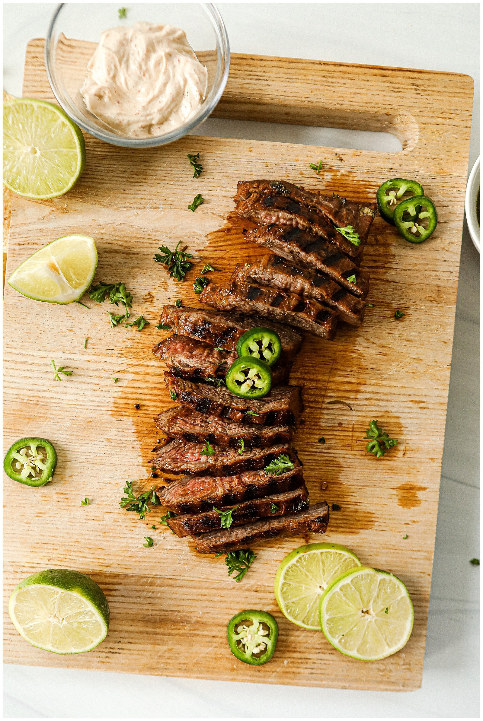 Tequila Lime Flank Steak on the grill