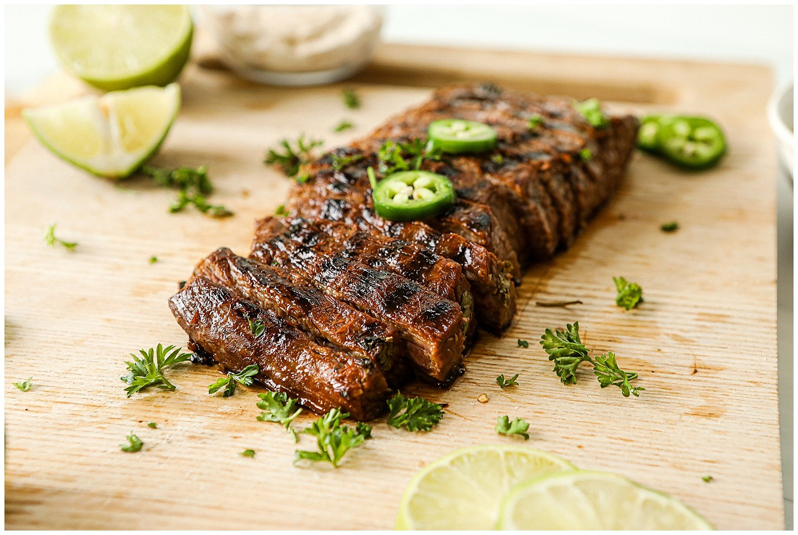 Flank steak on the grill
