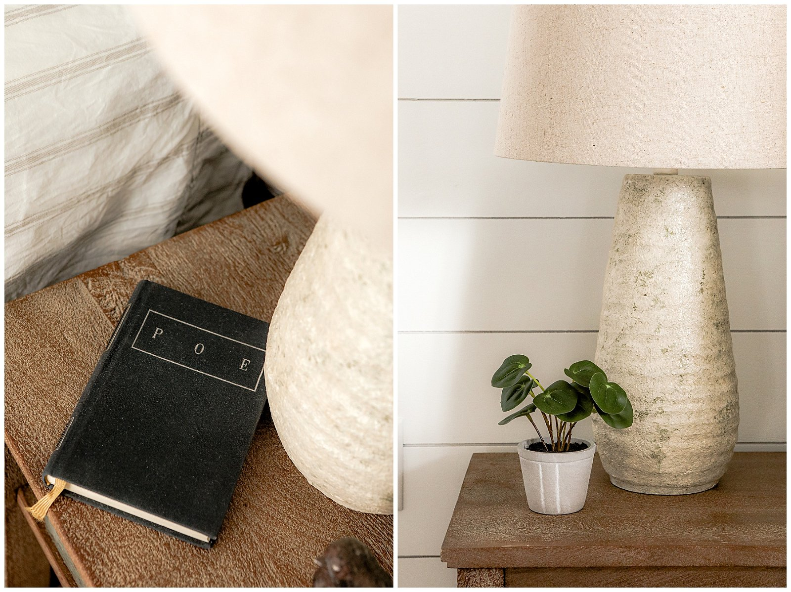 book on a nightstand