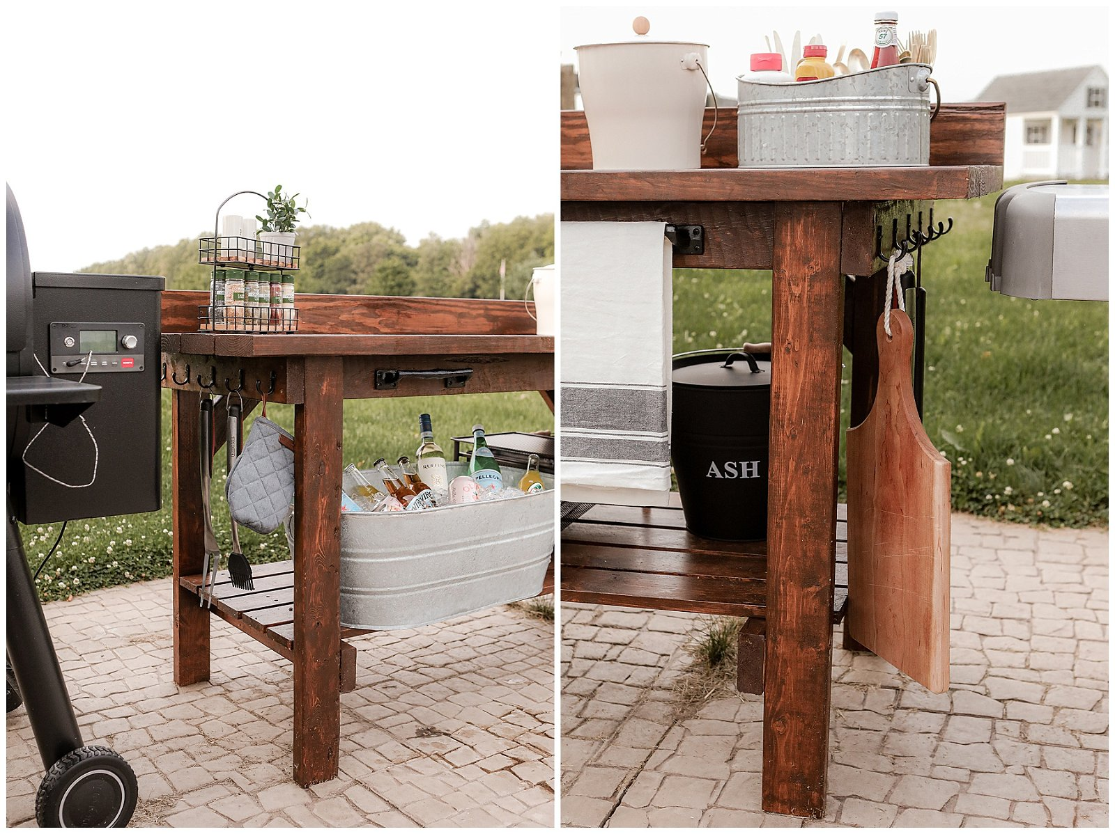 Hooks for grill tools