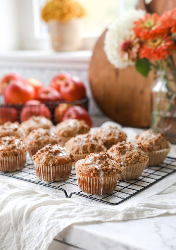 Homemade Apple Crumble Muffins
