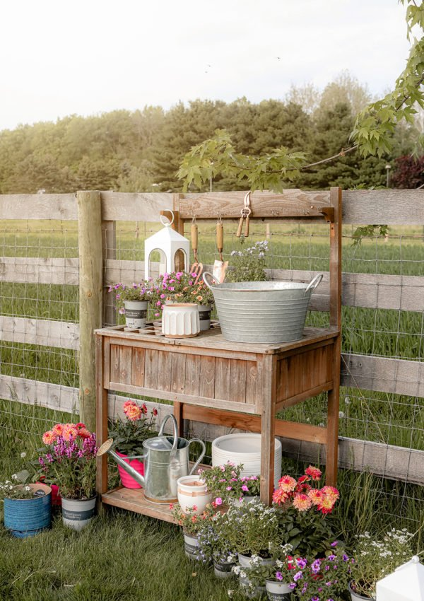 Creating a beautiful and functional potting bench space