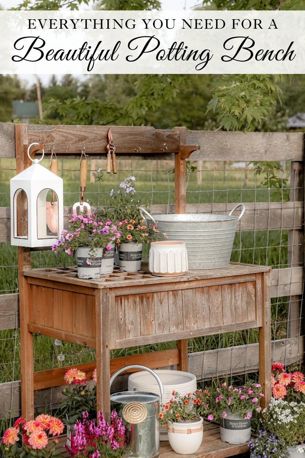 Everything you need for a beautiful potting bench
