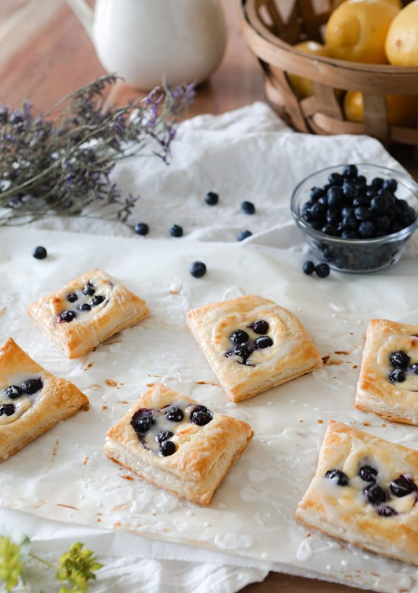 Homemade Blueberry Danish