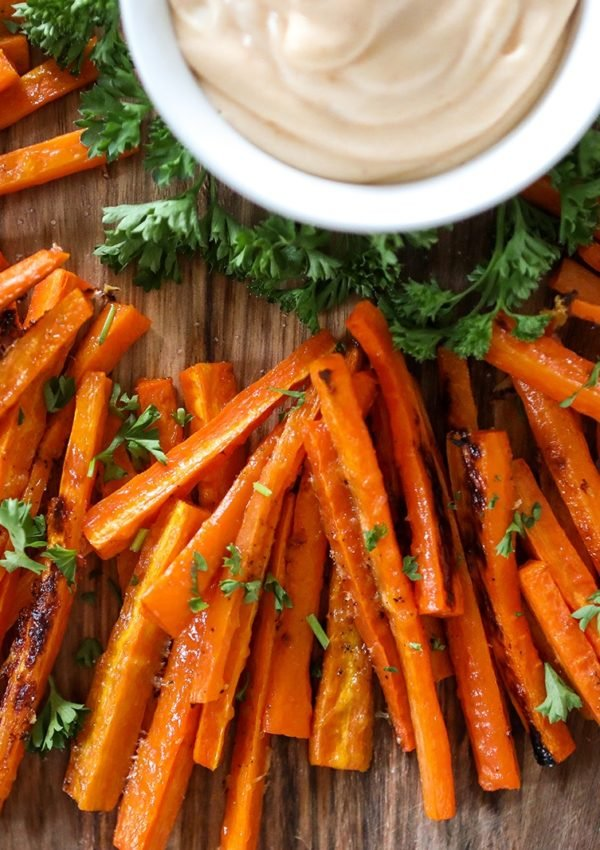 Perfect roasted carrot fries recipe