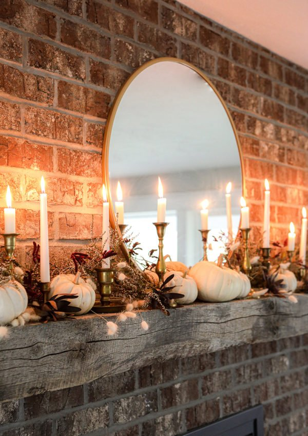 Fall Fireplace Thanksgiving Decor