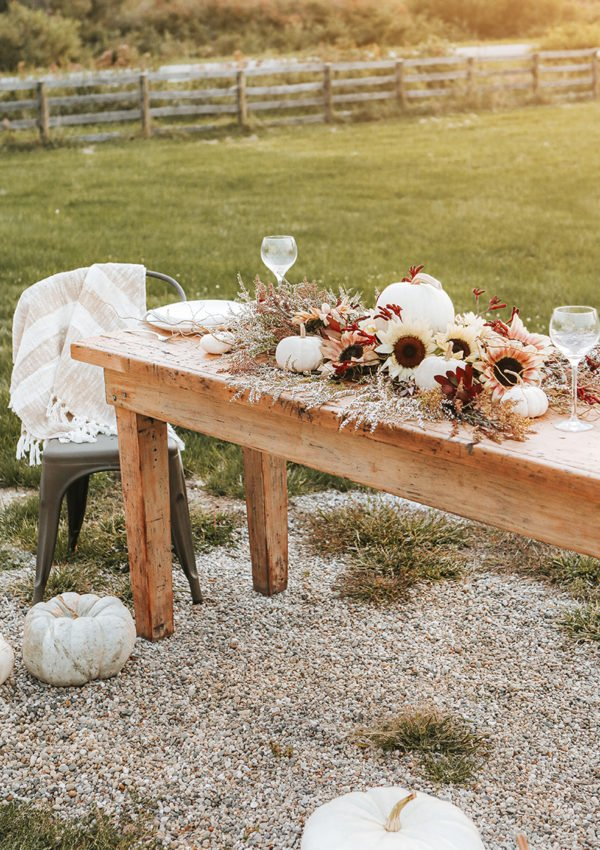 Creating a fall harvest tablescape with natural elements