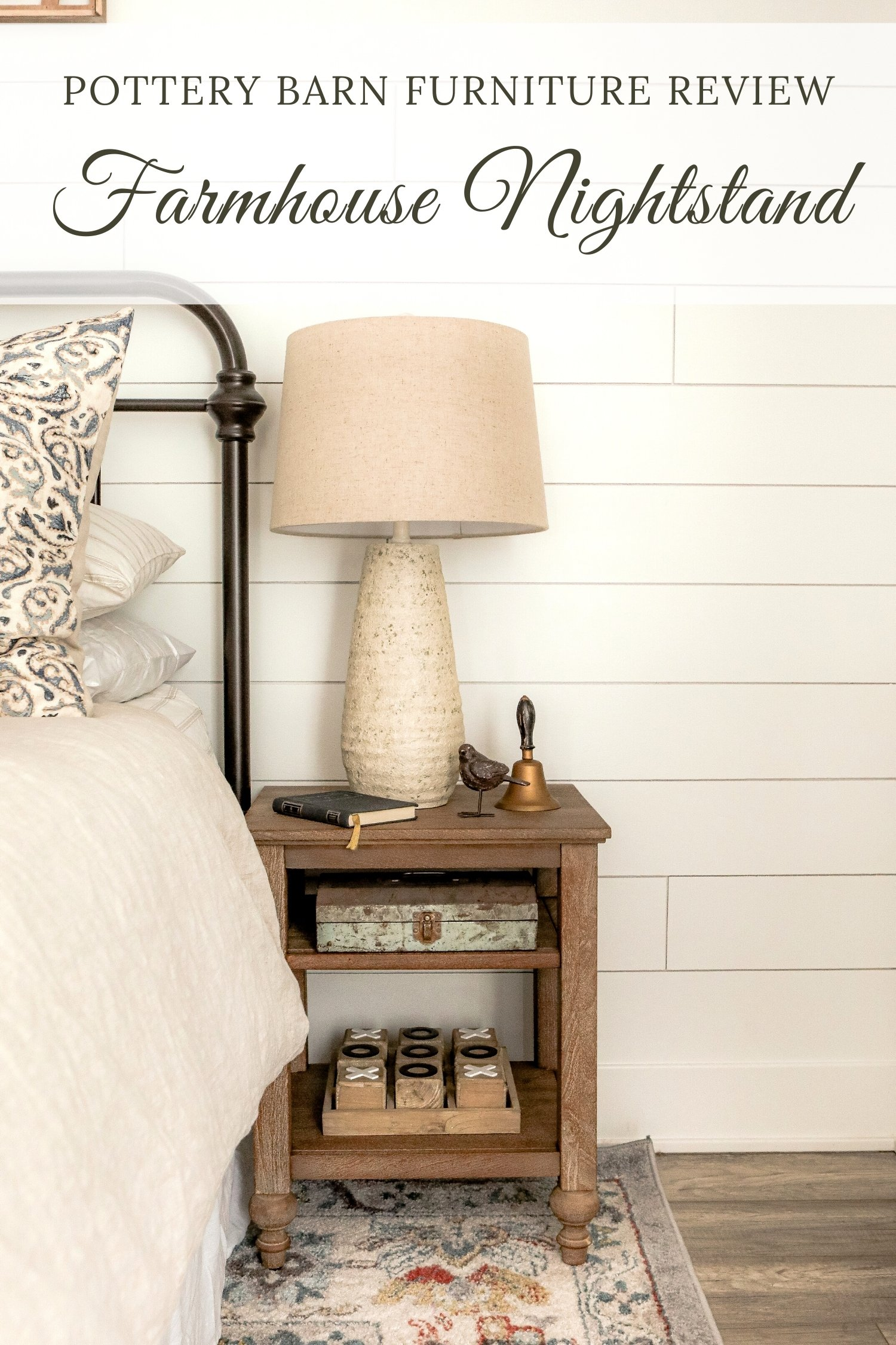 Farmhouse Nightstand Pottery barn furniture Review
