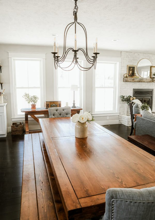 Beautiful farmhouse dining table finds