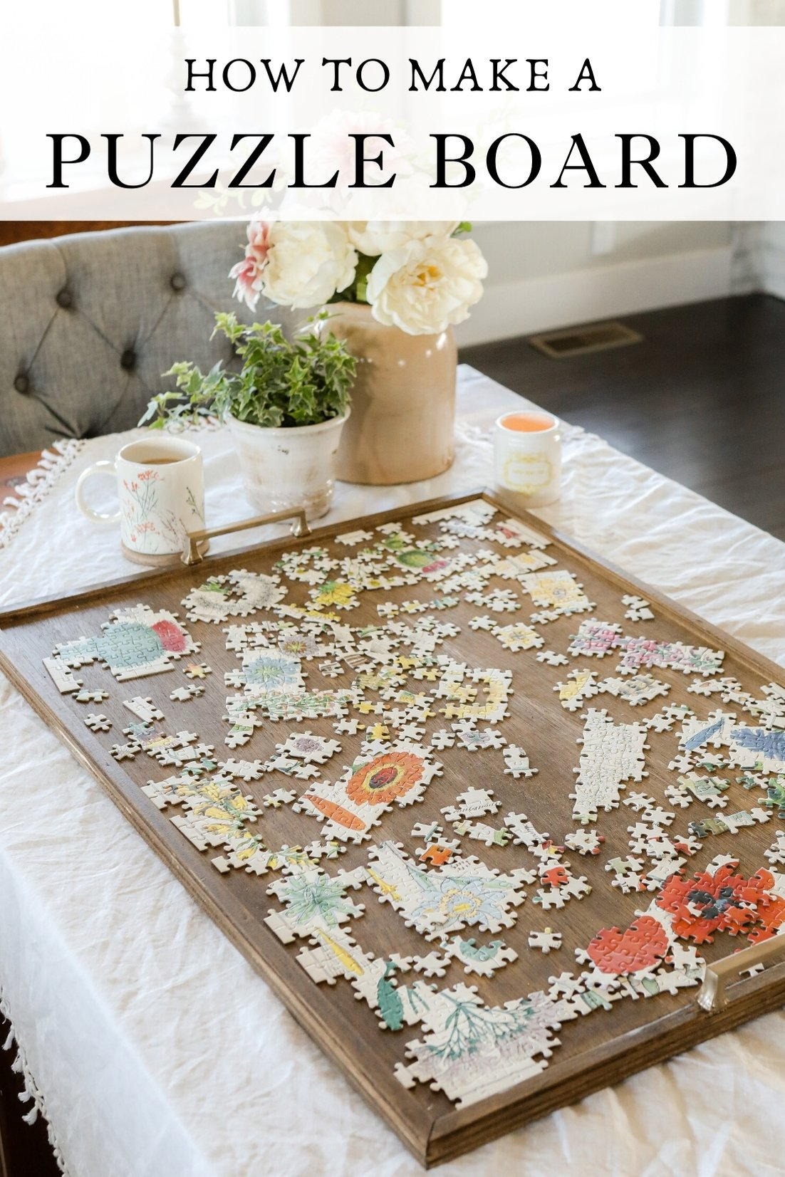 How to make a puzzle board