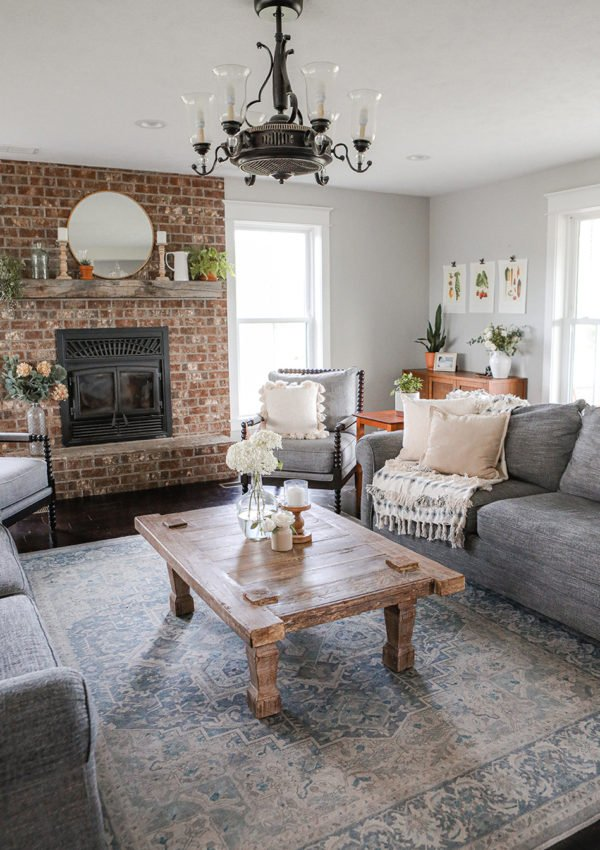 Family room summer decor makeover