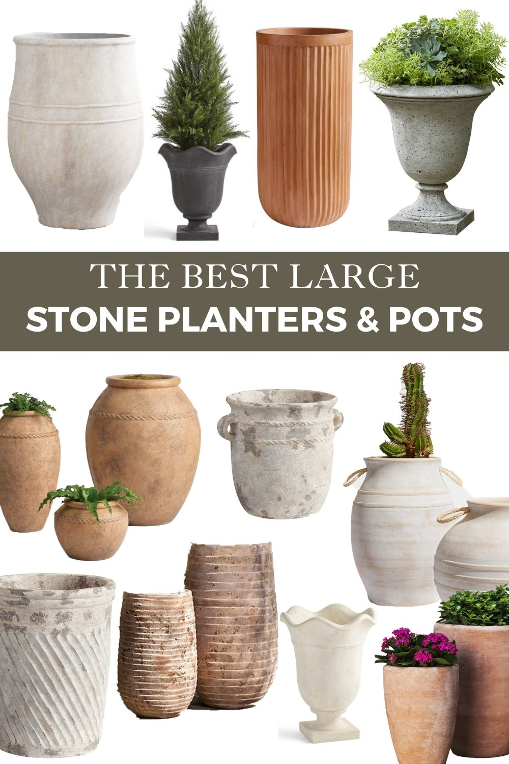 The Best Large Stone Planters and Pots
