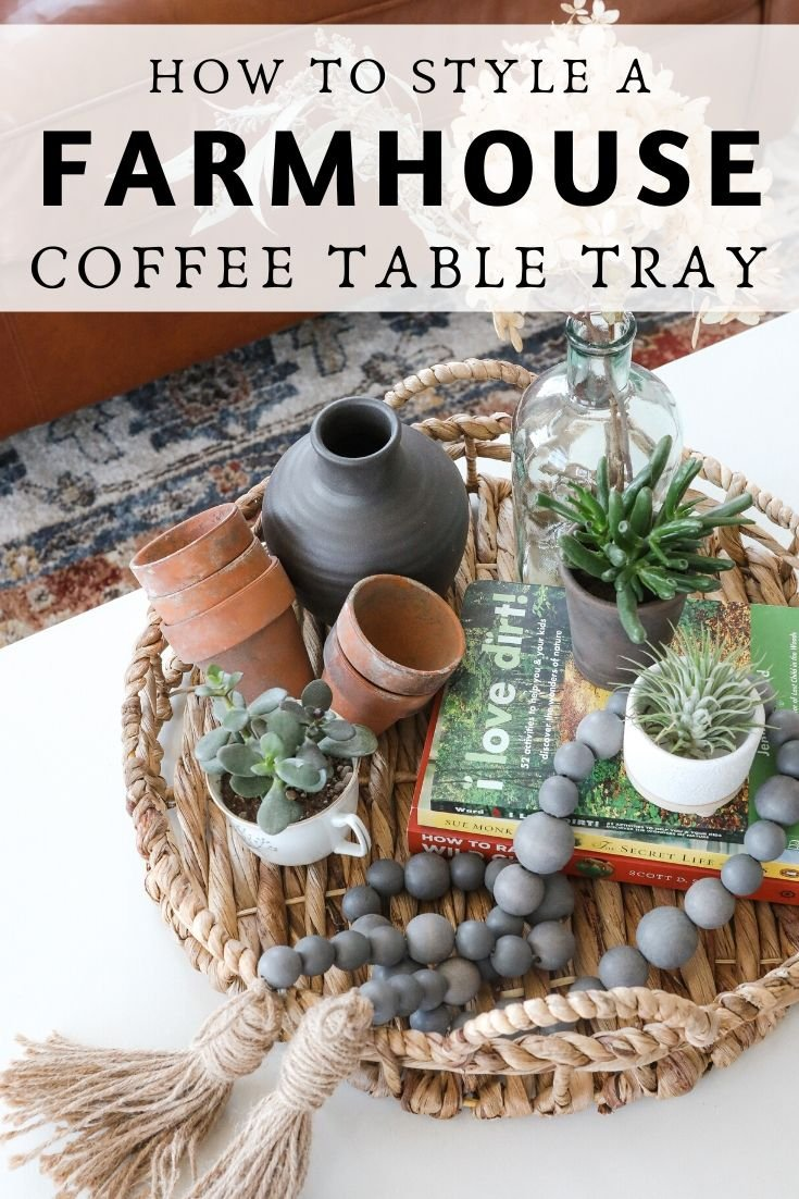coffee table tray decor